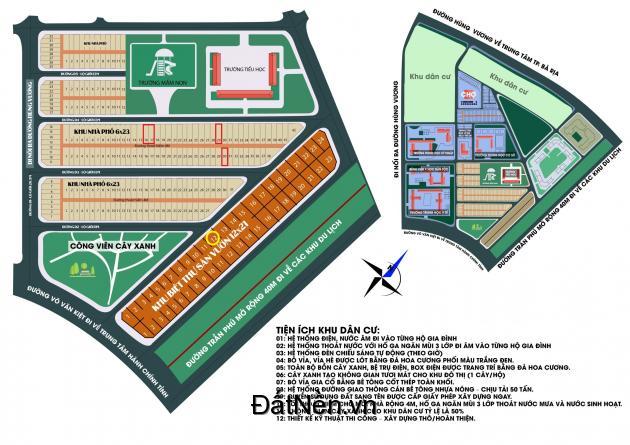 Dự án Thanh Sơn Ngay Trung Tâm TP Bà Rịa - SHR, Xây Dựng Tự Do Lh0939651154