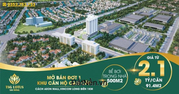 Căn hộ cao cấp mặt Phố Sài Đồng - cạnh Vinhomes Riverside Long Biên - view Vincom Plaza đã ra mắt