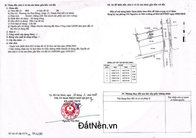 Đất Vườn Lài 4x20= 80m2 giá 45tr/m. Cầu nối Vườn Lài và Nguyễn Thái Sơn, Gò Vấp đã bắt đầu triển khai.