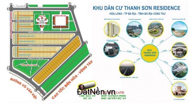 Cần bán nhanh lô đất dự án Thanh Sơn Residence ngay TP Bà Rịa LH 0939651154