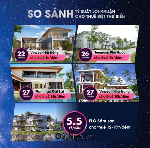 Cơ hội vàng đầu tư sinh lời từ biệt thự, liền kề tại FLC Sầm Sơn Beach & Golf Resort