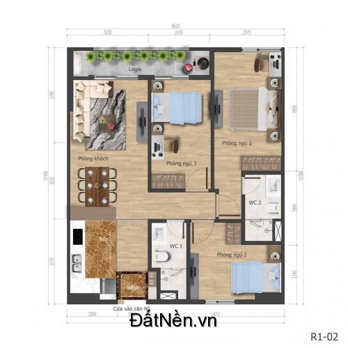 Chính chủ bán gấp căn hộ cao cấp 3 phòng ngủ, 86.3m2 tại KĐT Mỹ Đình