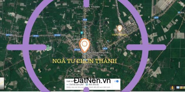 Đất Ngã 4 Chơn Thành -  gần Chợ Chơn Thành - Thổ Cư -  Sổ Riêng