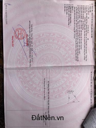 Bán đất Thị Xã Phú Mỹ,mặt tiền đường Tập đoàn 7, đã có sổ giá 2,5TR/m2 LH 089.887.4443