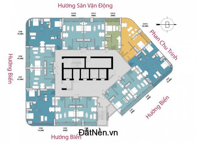 Marina Suites căn hộ cao cấp cách Biển Trần Phú 3 Phút giá chỉ 1ty8/căn