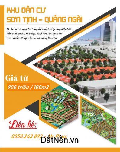 Giá niêm yết từ chủ đầu tư Khu dân cư Sơn Tịnh chỉ còn chưa đến 10 triệu/ m2