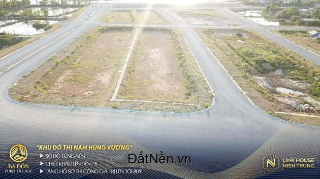 Bán đất có sổ ven sông Quảng Bình, Giá 15Tr/m2, dự án Ba Đồn Euro Village