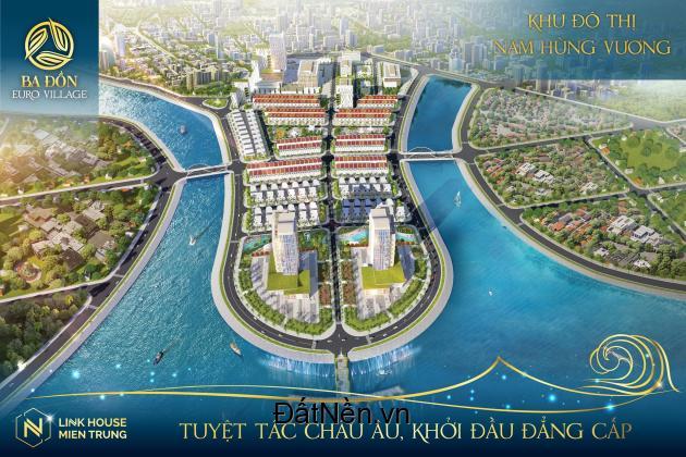 Bán đất có sổ ven sông Quảng Bình, BA ĐỒN EURO VILLAS, giá 15Tr/m2