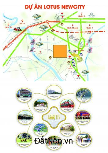 Siêu dự án Lotus New City tại Cần Đước Long An , mặt tiền QL 50 . LH 0906682600
