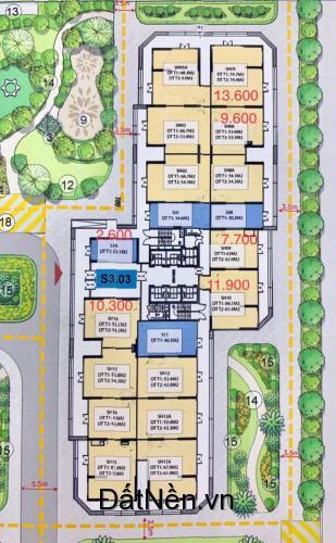 Bán Shop tầng 1 chung cư Vinhomes Smart City giá 2.6 tỷ