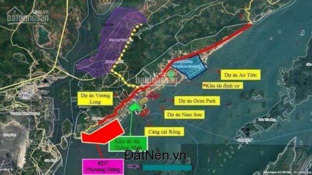 Bán đất dự án khu đô thị Phương Đông, Vân Đồn, lô góc rẻ 24.5tr/m2