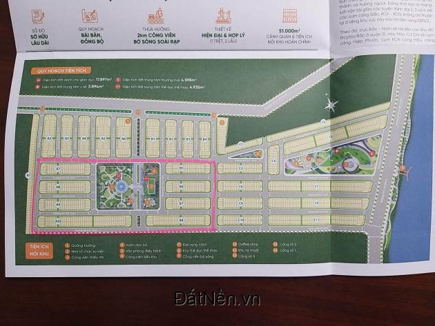 Mở bán đất nền sổ đỏ ngay cảng Hiệp Phước thanh toán 24 tháng giá từ 1,45 tỷ/nền
