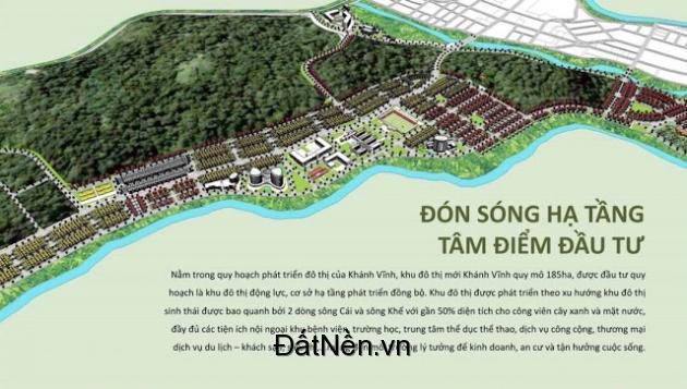 Đất nền sổ đỏ View sông phía tây Tp.Nha Trang, mặt tiền Tỉnh lộ 2, -Thị trấn Khánh Vĩnh, huyện Khánh Vĩnh