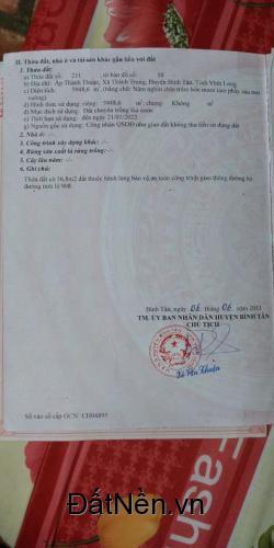 Chính Chủ Bán Gấp Đất giá Rẻ Tỉnh lộ 908, Bình Tân