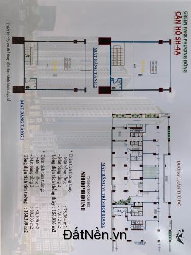 Bán Shophouse thông tầng Green Park số 1 Trần Thủ Độ thang máy hoàn thiện 55 triệu/m2