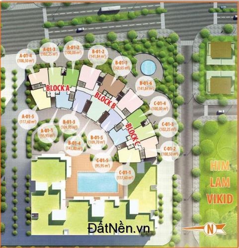 bán căn hộ HimLam Riverside, Q7 diện tích 108m2 giá 3 tỷ 950