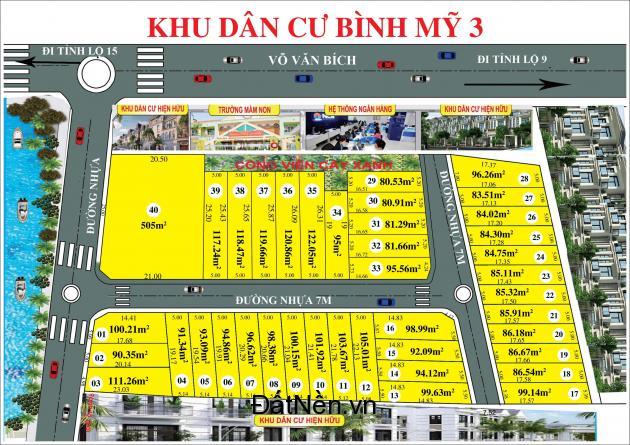 KDC Bình Mỹ 3, mặt tiền đường Võ Văn Bích, Củ Chi.