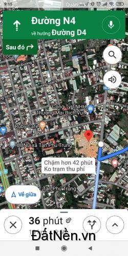 Cần bán 2 lô đất Củ Chi xã Tân Phú Trung