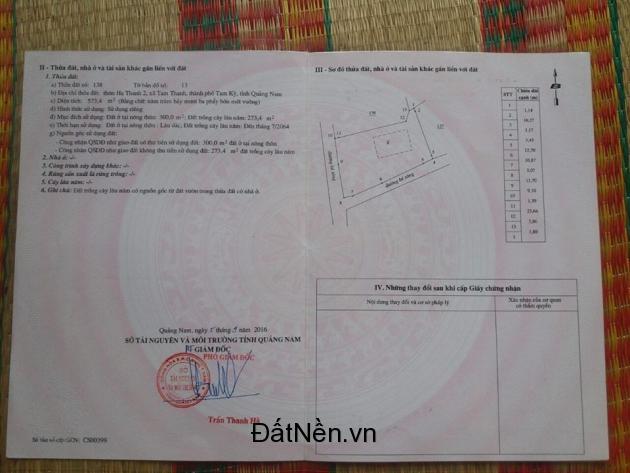 Chính Chủ Cần Bán Gấp Lô Đất Sát Biển Tam Thanh, Tam Kỳ, Quảng Nam