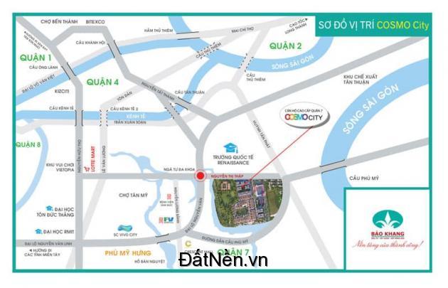 HOT! Căn hộ Cosmo City mặt tiền Nguyễn Thị Thập Quận 7.LH:0908991827