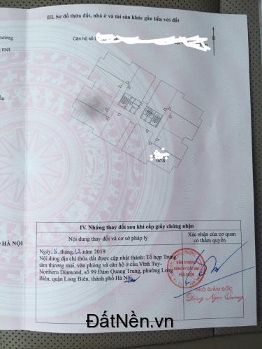 Bán căn góc chung cư Northern Diamond chân cầu Vĩnh Tuy - Long Biên - HN