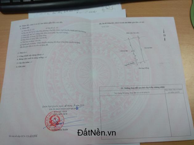 Chính chủ cần bán nhà ở trung tâm thành phố Hải Phòng