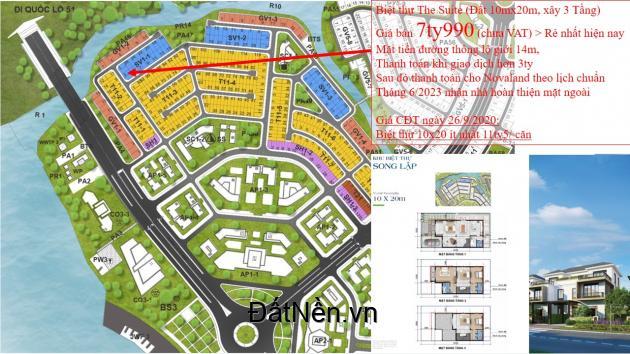 Chính chủ cần sang gấp Biệt thự Aqua City giá 7ty990, rẻ hơn CĐT 3 tỉ