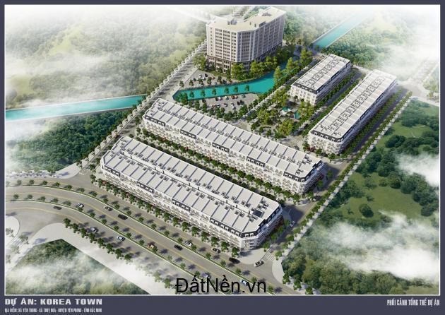 Đừng bỏ lỡ cơ hộ đầu tư cực kì tiềm năm với Nhà phố thương mại Korea Town
