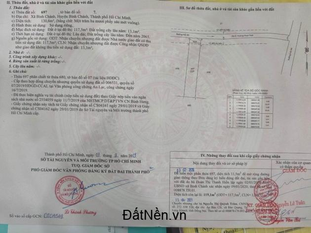 Bán đất đường Hoàng Phan Thái, Bình Chánh, giá 1,5 tỷ