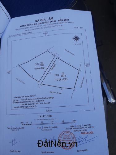 Bán đất vườn Đà Lạt 2325m2, có ao, 60m mặt tiền bê tông sâu 40m giá 1.750 tỷ