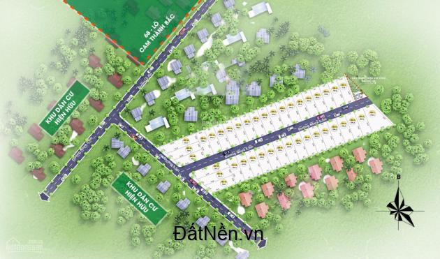 Đất nền phân lô Cam Thành Bắc gần Sân Bay giá chỉ hơn 8tr/m2, đã có sổ đỏ từng nền. LH: 0368438585