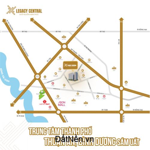 Căn hộ cao cấp Legacy Central Thuận An đang đặt chỗ có giá tốt nhất thị trường