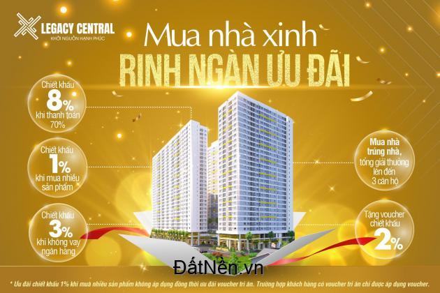 Mua nhà xinh rinh ngàn ưu đãi với căn hộ cao cấp Legacy Central