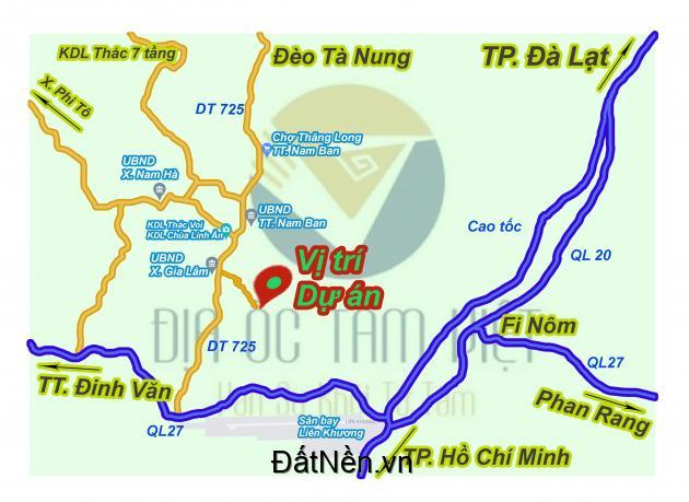Đất nghỉ dưỡng Đà Lạt vùng ven hơn 500m2 giá 580 triệu
