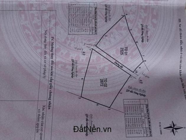 Bán đất vườn Đà Lạt 2325m2 tại Thôn 3 - xã Gia Lâm - Lâm Hà, Lâm Đồng