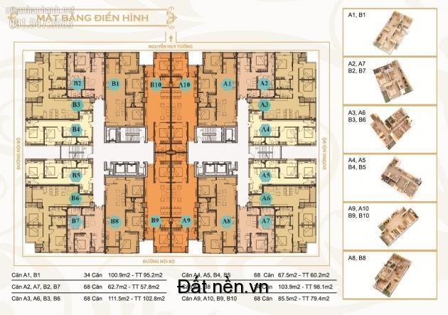 Bán chung cư Mỹ Sơn, 62 Nguyễn Huy Tưởng 16B5 dt 67,5m2. lh 0906206269