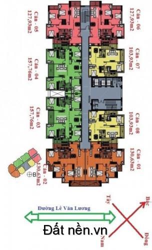 Tôi bán căn số 1 CC Golden Palace  - tòa C3 Lê Văn Lương dt 122,44m2