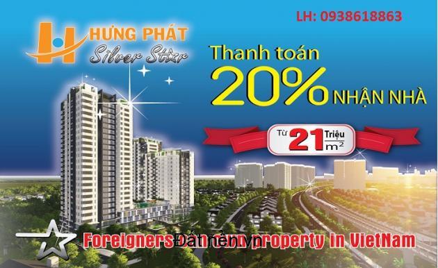 CĂN HỘ HƯNG PHÁT SILVER STAR THANH TOÁN 320TRIỆU NHẬN NHÀ CHIẾT KHẤU TỪ 2%-10% LH 0938618863 Mrs Nga