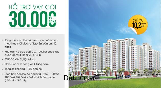 Chúng tôi mở bán dự án nhà xã hội, số lượng có hạn, huyện Bình Chánh (CC1 - Jovita thuộc dự án Happy City)