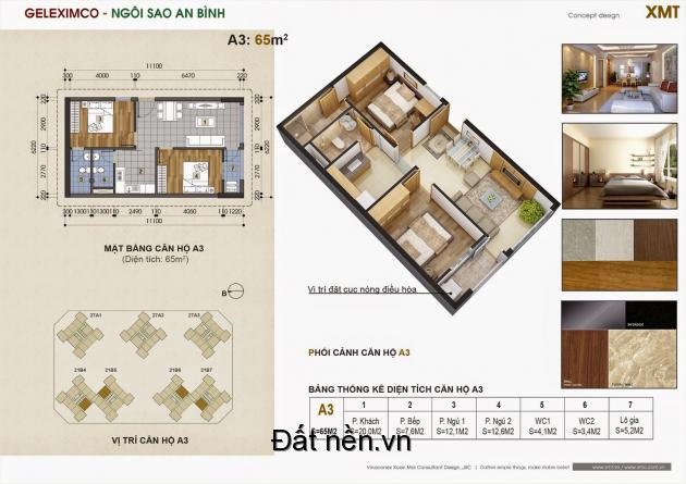 Bán căn 65m2 tầng 10 chung cư Green Star 2PN giá 1,6 tỷ/căn