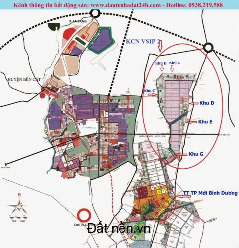 Ưu điểm để mua đất nền dự án Civilized City sổ đỏ riêng từng nền. KCN VSIP II Bình Dương