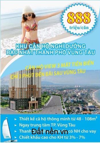 Căn hộ biển vũng tàu ngay 2 mặt tiền đường Võ Thị Sáu và Hoàng Hoa Thám chỉ từ 999 triệu