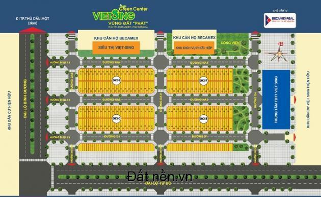 Becamex mở bán quỹ đất mới đẹp nhất KDC Việt Sing, VSIP 1, ưu tiên đặt chỗ trước