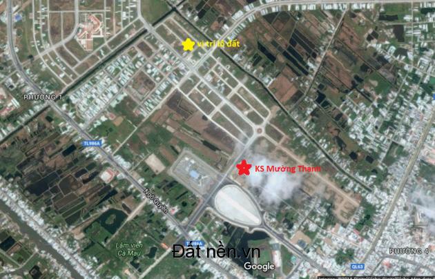 Bán đất nền khu dân cư Minh Thắng Cà Mau gần Khách sạn Mường Thanh