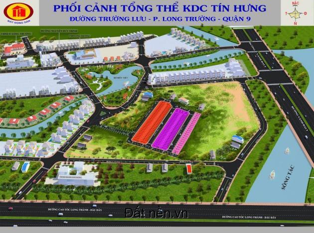 Mở bán KDC Tín Hưng Trường Lưu, mặt tiền thương mại Trường Lưu, P. Long Trường