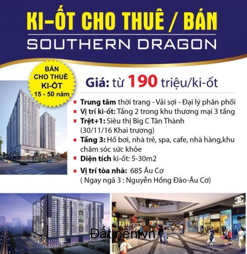 Bán vị trí kiot BIC C Tân Phú chỉ từ 33tr/m2/15 năm, trung tâm thời trang thời đại mới